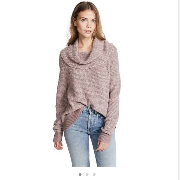 Free People Sweaters Nwt By Your Side Sweater Mauve Poshmark